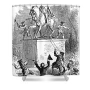 George IIi Statue, 1776 Shower Curtain by Granger