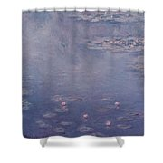 Nympheas Shower Curtain by Claude Monet