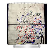 Sign Shower Curtain by Gloria Ssali