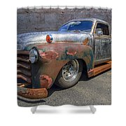 52 Chevy Truck Shower Curtain by Debra and Dave Vanderlaan