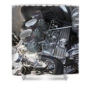 55 Bel Air Engine-8202 Shower Curtain by Gary Gingrich Galleries