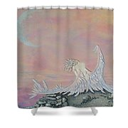 Alone Shower Curtain by Christine Cholowsky