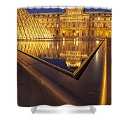 Musee Du Louvre Shower Curtain by Brian Jannsen