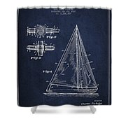 Sailboat Patent Drawing From 1938 Shower Curtain by Aged Pixel