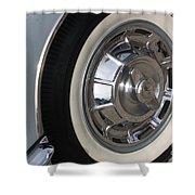 61 Corvette-grey-wheel-9236 Shower Curtain by Gary Gingrich Galleries