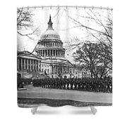 63rd Infantry Ready In Dc Shower Curtain by Underwood Archives