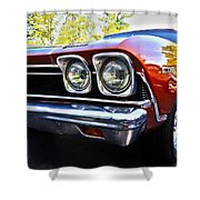 68 Chevelle  Color Shower Curtain by Cheryl Young