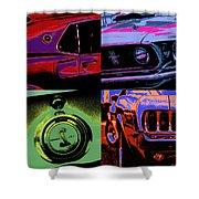 '69 Mustang Shower Curtain by Gordon Dean II