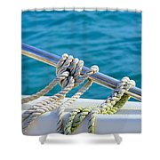 The Ropes Shower Curtain by Laura  Fasulo