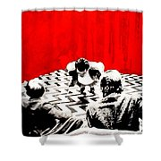 Black Lodge  Shower Curtain by Luis Ludzska