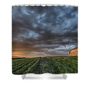 Newly Planted Crop Shower Curtain by Mark Duffy