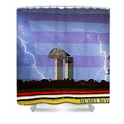 9-11 We Will Never Forget 2011 Poster Shower Curtain by James BO  Insogna