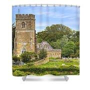 Abbotsbury Shower Curtain by Joana Kruse