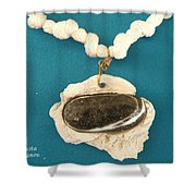 Aphrodite Anadyomene  Necklace Shower Curtain by Augusta Stylianou