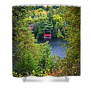 Fall forest and lake Shower Curtain by Elena Elisseeva