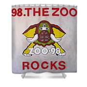 98.the Zoo Rocks Shower Curtain by Donna Wilson