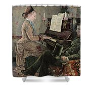 A Captive Audience Shower Curtain by Frederic Samuel Cordey