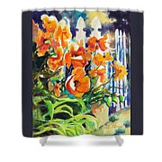 A Choir Of Poppies Shower Curtain by Kathy Braud