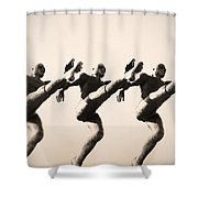A Chorus Line Shower Curtain by Bill Cannon