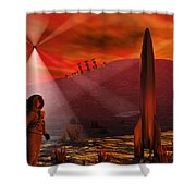 A Colony Being Established On An Alien Shower Curtain by Mark Stevenson