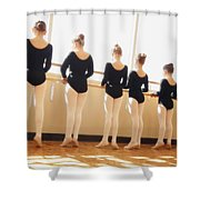 A Dance Class Shower Curtain by Don Hammond