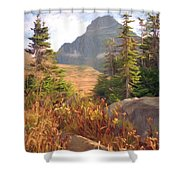 A Day At Glacier Shower Curtain by Richard Rizzo