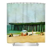 A Day At The Beach Shower Curtain by Darren Fisher