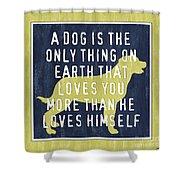A Dog... Shower Curtain by Debbie DeWitt
