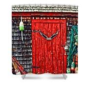 A Door In Maine Shower Curtain by Darren Fisher