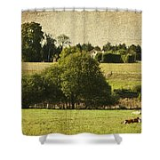 A French Country Scene Shower Curtain by Georgia Fowler