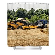 A French Harvest Shower Curtain by Georgia Fowler