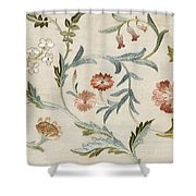 A Garden Piece Shower Curtain by May Morris