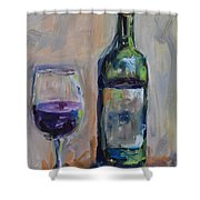 A Good Pour Shower Curtain by Donna Tuten