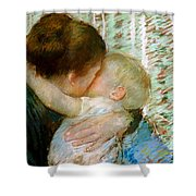 A Goodnight Hug  Shower Curtain by Mary Stevenson Cassatt