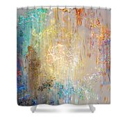 A Heart So Big - Abstract Art Shower Curtain by Jaison Cianelli