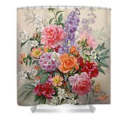 A High Summer Bouquet Shower Curtain by Albert Williams
