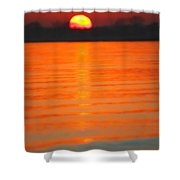 A Last Sunset Shower Curtain by Karol Livote