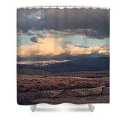 A Light in the Distance Shower Curtain by Laurie Search