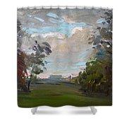 A Little Break From The Rain Shower Curtain by Ylli Haruni