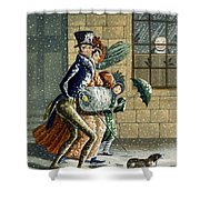 A Merry Christmas And Happy New Year Shower Curtain by W Summers