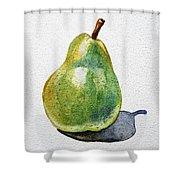 A Pear Shower Curtain by Irina Sztukowski