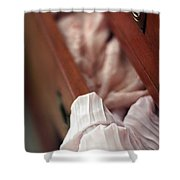 A Peek Inside...  Shower Curtain by Trish Mistric
