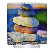 A Place Of Peace Shower Curtain by Christi Kraft