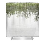 A Place So Far Yet Feels Like Home Shower Curtain by Brett Pfister