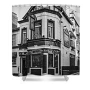 A Pub On Every Corner Shower Curtain by Georgia Fowler