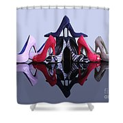 A Pyramid Of Shoes Shower Curtain by Terri Waters