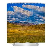 A River Ran Through It Shower Curtain by Omaste Witkowski