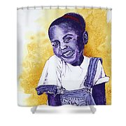 A Smile For You From Haiti Shower Curtain by Margaret Bobb
