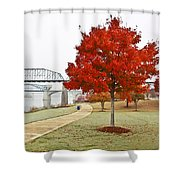 A Soft Autumn Day Shower Curtain by Tom and Pat Cory