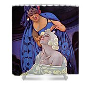 A Spanish Hairdresser Shower Curtain by Vila